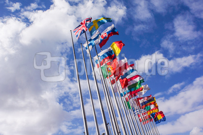 Europa-Flaggen _quer