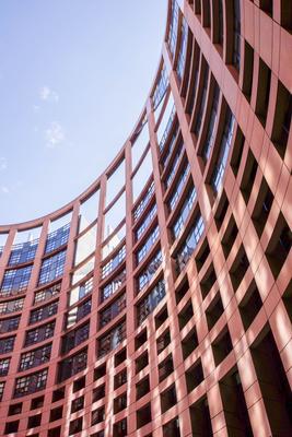 Europa-Parlament Straßburg innen - hoch