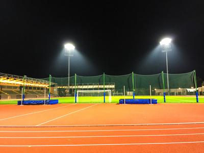 Sportarena mit Flutlicht