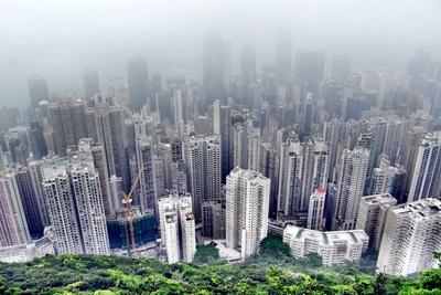 Hongkong im Nebel