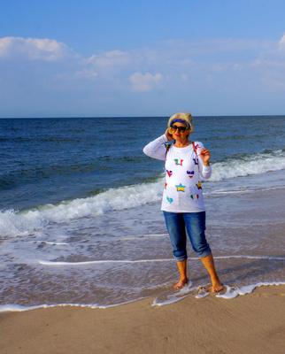 Gesunde Meeresluft am Strand