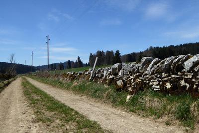Teilstück der Trans-Jura-Route