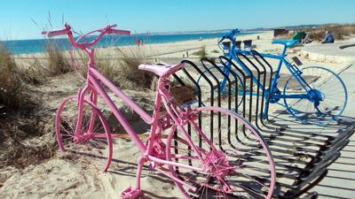 Kunst am Fahrradständer
