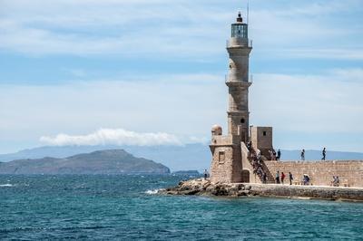Leuchtturm im venezianischen Hafen Chania