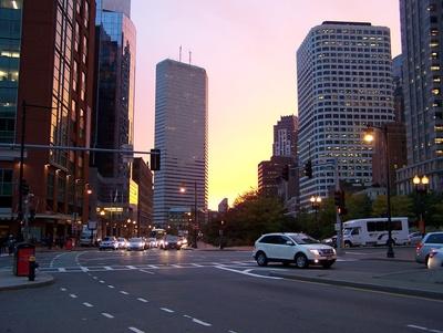 Abendstimmung in Boston