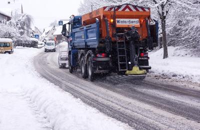 Winterdienst im Dorf