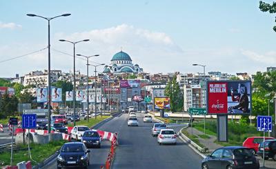 Einfahrt nach Belgrad