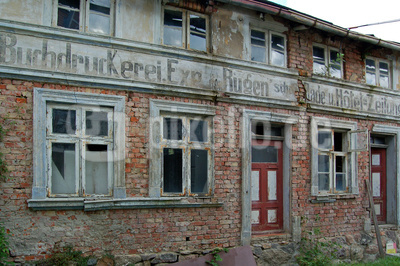 Altstadt von Sassnitz auf Rügen - Hier wird schon lange nichts mehr gedruckt.