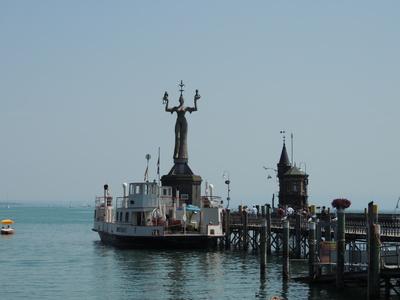 Konstanzer Hafenansicht mit Imperia