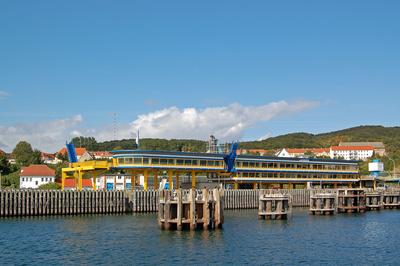 Der alte Fähranleger im Sassnitzer Hafen im neuen Gewand