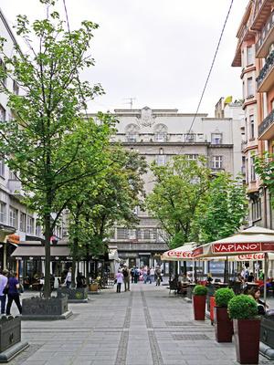 Die gastronimische Meile in Belgrad-City . . . .