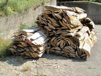 Holzstapel gebündelt