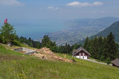 Montreux von oben gesehen