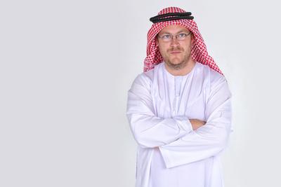 Araber im Kaftan