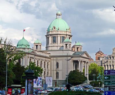 Belgrad - das Parlament von Serbien