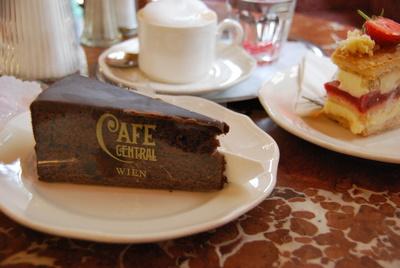 Sachertorte im Cafè Central