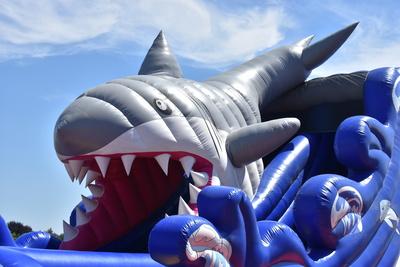 Hüpfburg,der weisse Hai