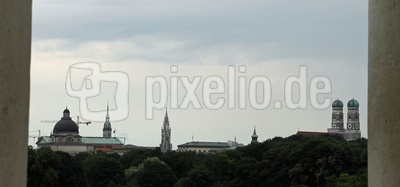 Blick auf Münchens Altstadt
