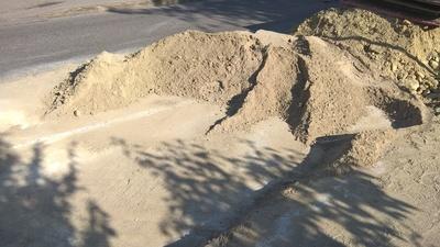 Baustelle mit Sand