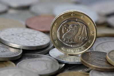 griechischer Euro auf Drachmen