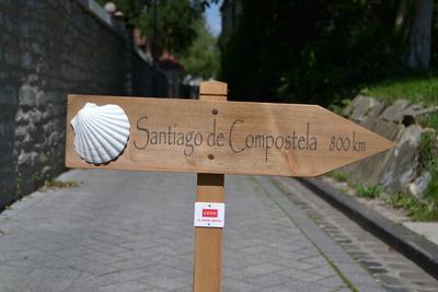 Schild Santiago de Compostela