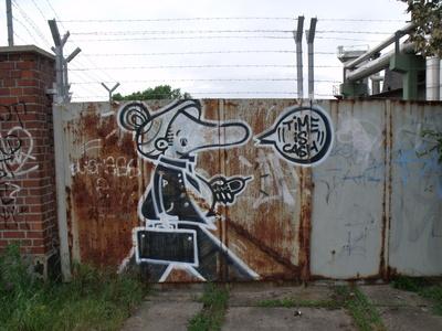 Streetart Time is Cash