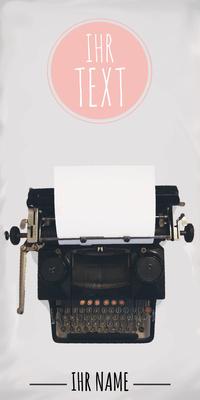 Cover Schreibmaschine