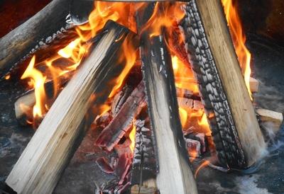 Buchenholzfeuer