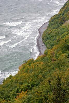 Ostseestrand unterhalb der »Viktoria-Sicht« bei Stubbenkammer auf Rügen