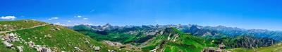 Alpenpanorama vom Nebelhorn aus