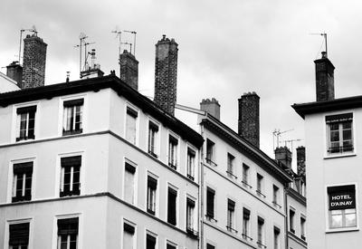 Lyon Häuser Schornsteine