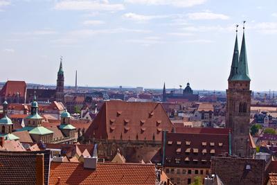 Blick über Nürnbergs Altstadt