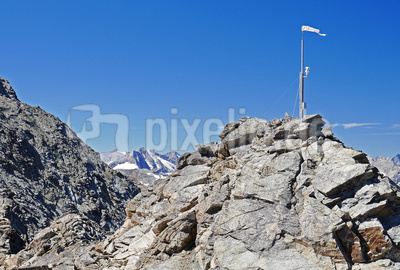 Gipfelkamera mit Windsack , . . . .