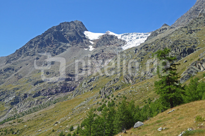 Balfrin-Gletscher zieht sich zurück