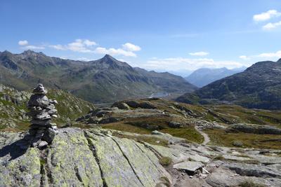 Pizzo Centrale über dem Gotthardpass