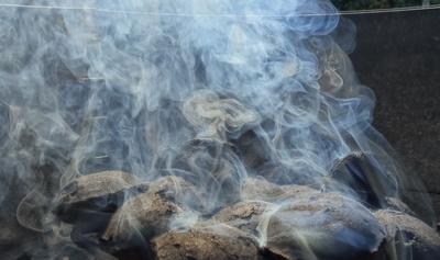 Rauch der kohle