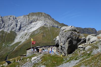 Spannort-Hütte mit Wissigstock