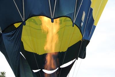 Heißluftballon Teilansicht
