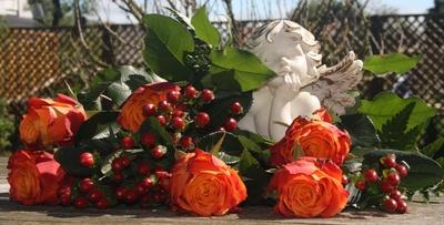 Rosen und ein Engel
