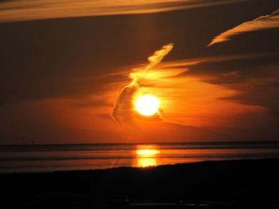 Sonnenaufgang am Harlesieler Strand