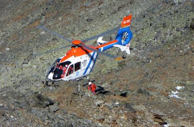 Ernstfall-Einsatz für die Bergretter