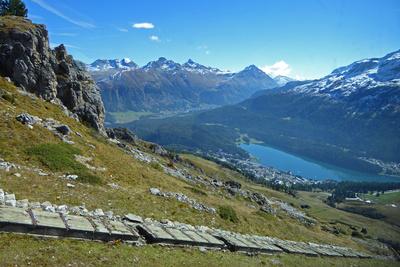 St. Moritz mit Piz Vadret und Piz Languard