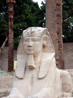 Sphinx im Luxortempel