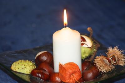 Herbstliches Kerzenlicht