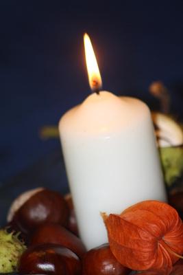 Herbstliche Kerze