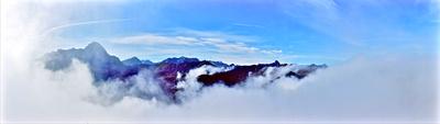 Panorama Allgäuer Bergkette
