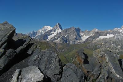 Sicht in die französischen Alpen