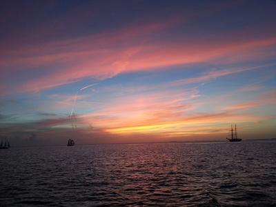 Sonnuntergang mit Segelschiff in Key West, Florida 1