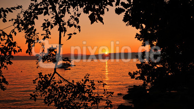 Traumhafter Sonnenuntergang in Njivice