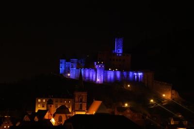 Burg Wertheim Aktionsbeleuchtung Diabetikertag